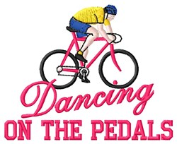 Dancing Pedals embroidery design