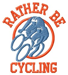 Rather Be Cycling embroidery design