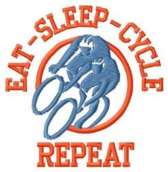 Eat Sleep Cycle embroidery design