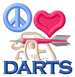 Peace Love Darts embroidery design