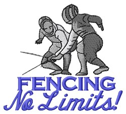 Fencing Limits embroidery design