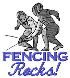 Fencing Rocks embroidery design