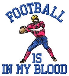 Football In Blood embroidery design