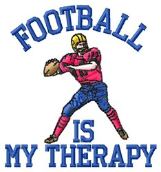 Football Therapy embroidery design