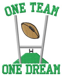 Football One Team embroidery design