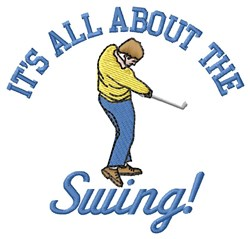 Golf Swing embroidery design