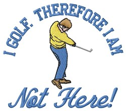 I Golf embroidery design