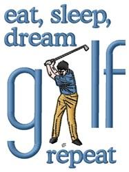 Dream Golf embroidery design