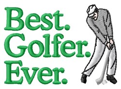 Best Golfer embroidery design