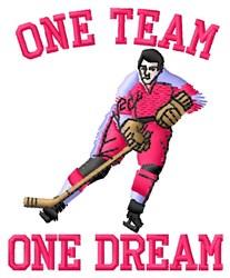 Hockey One Team embroidery design