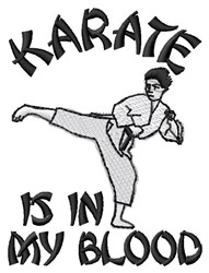 Karate In Blood embroidery design