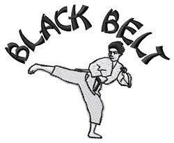 Black Belt embroidery design