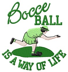 Bocce Ball Life embroidery design