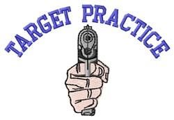Target Practice embroidery design