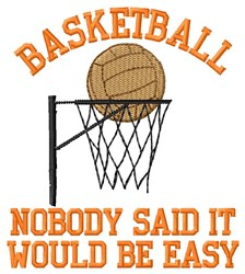 Baskeball Be Easy embroidery design