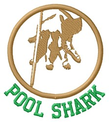 Pool Shark embroidery design