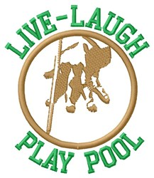 Play Pool embroidery design