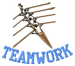 Teamwork embroidery design