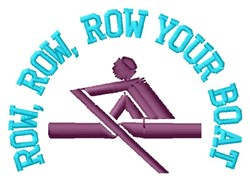 Row Your Boat embroidery design