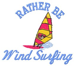 Rather Wind Surf embroidery design