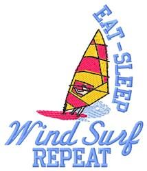 Eat Sleep Wind Surf embroidery design