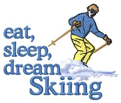 Dream Skiing embroidery design