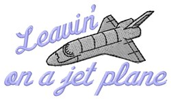On Jet Plane embroidery design