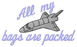 Bags Packed embroidery design