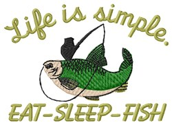 Life is Simple embroidery design