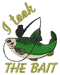 Took Bait embroidery design