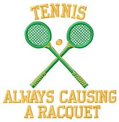 Causing A Racquet embroidery design
