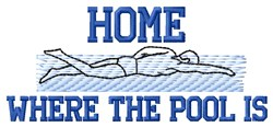 Where Pool Is embroidery design
