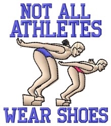 Athletes Wear Shoes embroidery design