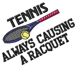 Causing Racquet embroidery design