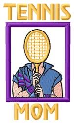 Tennis Mom embroidery design