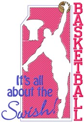 All About Basketball embroidery design