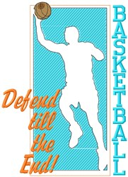 Defend Basketball embroidery design
