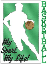 Basketball My Sport embroidery design