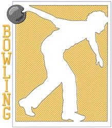 Bowling Player Outline embroidery design