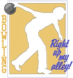 Bowling Up My Alley embroidery design