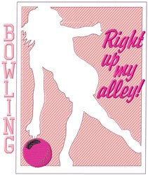 Womens Bowling My Alley embroidery design