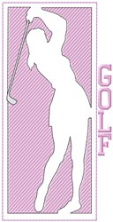 Womens Golf embroidery design