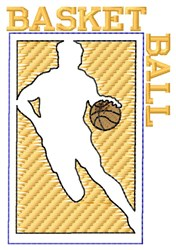 Basketball Player Outline embroidery design