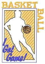 Basketball I Got Game embroidery design