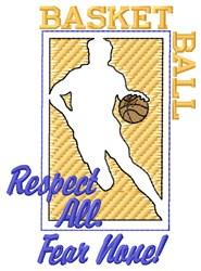 Fear None Basketball embroidery design
