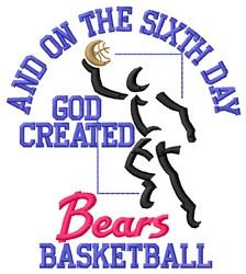 Sixth Day Bears Basketball embroidery design