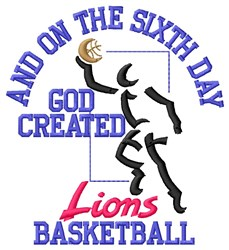 Sixth Day Lions Basketball embroidery design