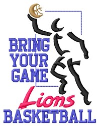 Bring Game Lions Basketball embroidery design