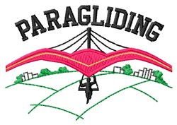 Paragliding embroidery design