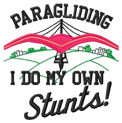 Paragliding Stunts embroidery design